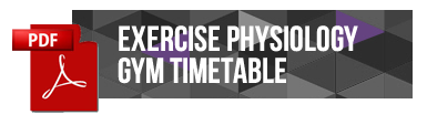 Exercise Physiology Gym Timetable
