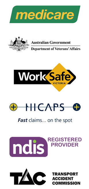 Medicare, Worksafe, HICAPS, NDIS, TAC